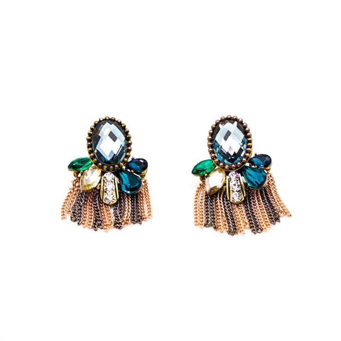 Holiday Inspired Metal Fringe Earrings