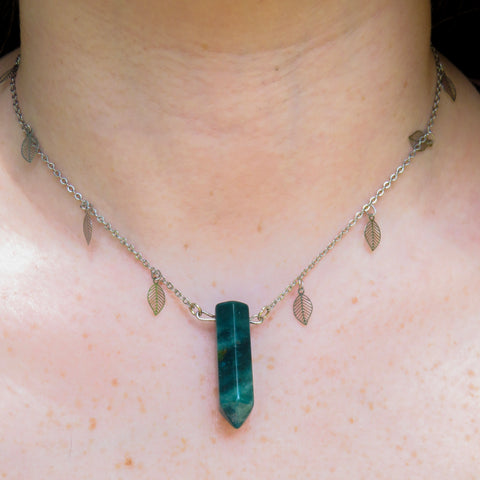 Moss Agate Spirit Chain Necklace