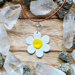 Clear Quartz Daisy Necklace