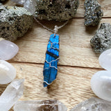 Labradorite Wired Wrapped Necklace