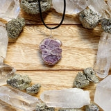 Lepidolite Wire Wrap Necklace