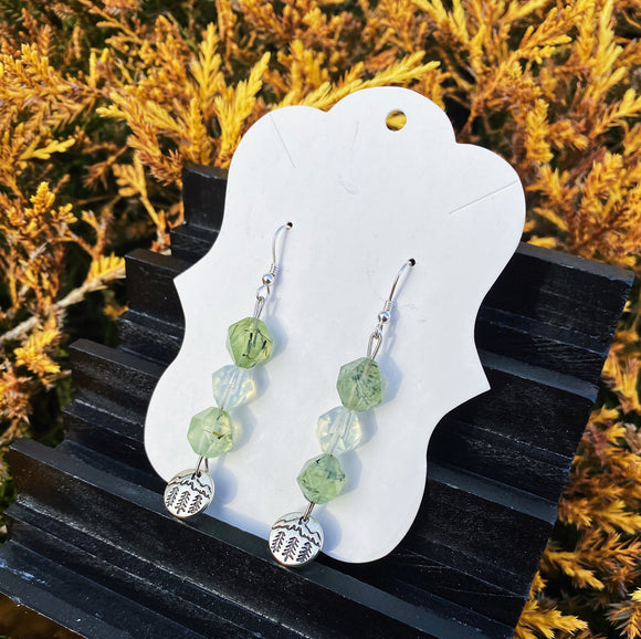 Prehnite & Opalite Earrings