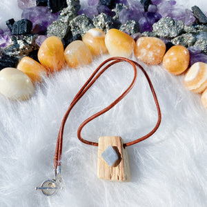 Palo Santo & Blue Calcite Necklace