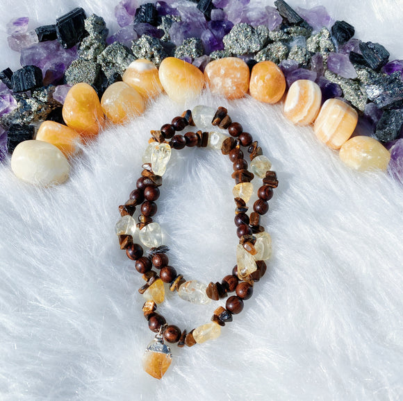 Citrine & Tigers Eye Necklace