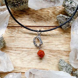 Red Jasper Fangs Necklace