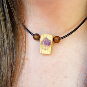 Palo Santo & Amethyst Necklace