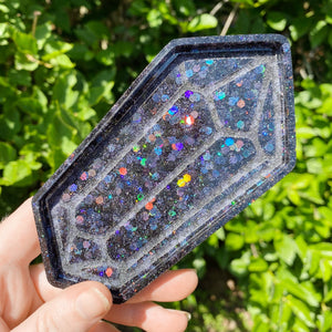 Shungite Black Holographic Crystal Tray
