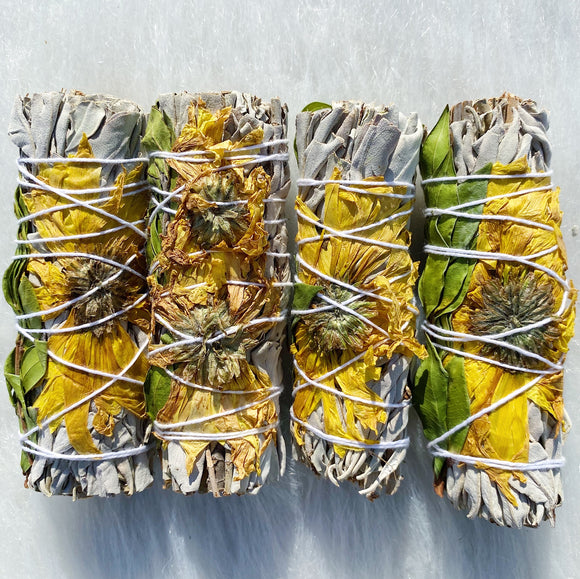 Sunflower White Sage Bundle