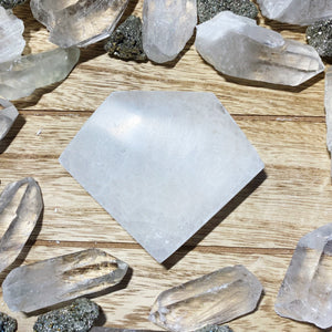 Diamond Selenite Plate