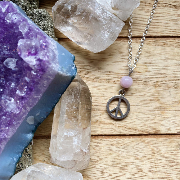 Peace Sign Crystal Necklaces