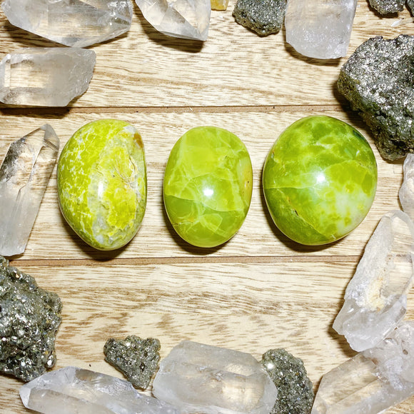 Green Opal Palm Stones