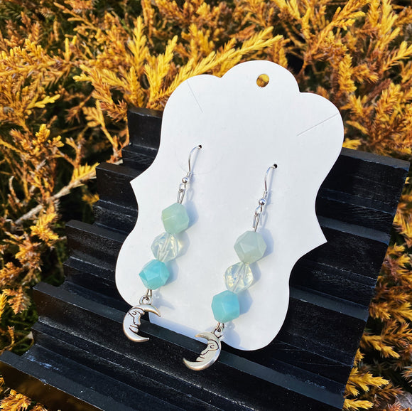 Amazonite & Opalite Earrings