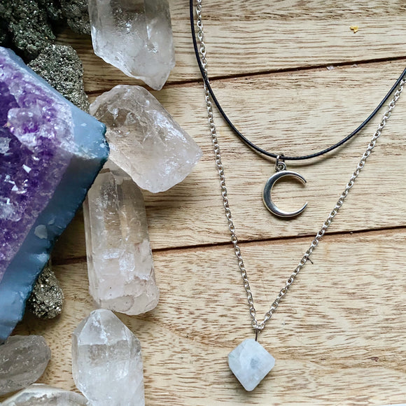 Celestial Layered Necklace (Moonstone)