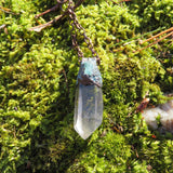 Small Quartz with Aquamarine Necklace 1