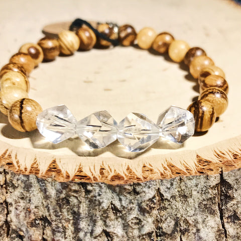 Clear Quartz Star Seed Bracelet