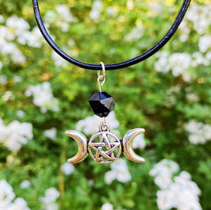 Onyx Triple Moon Choker