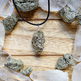 Pyrite Wire Wrap Necklace 1
