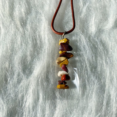 Mookaite Chip Necklace!