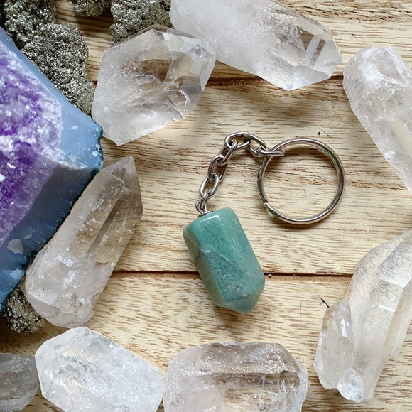 Good Luck Charm Keychain (Green Aventurine)