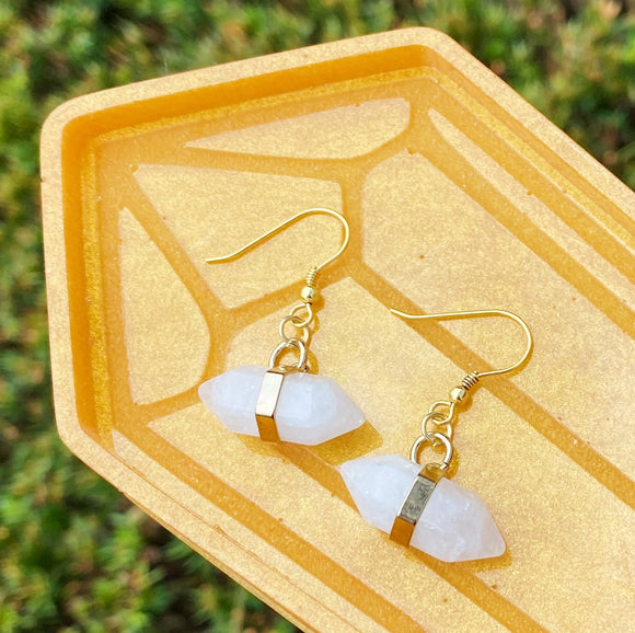 Milky Quartz Earrings