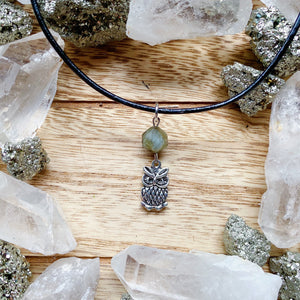 Labradorite Owl Necklace