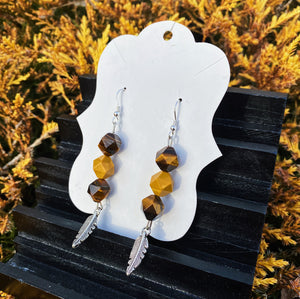 Tigers Eye & Mookaite Earrings