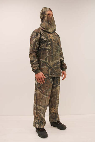 HECS Stealthscreen hunting camo suit male 3/4 view