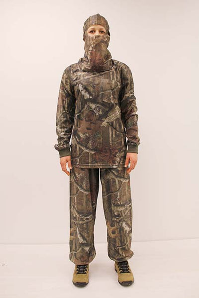 HECS Stealthscreen hunting camo suit female front view