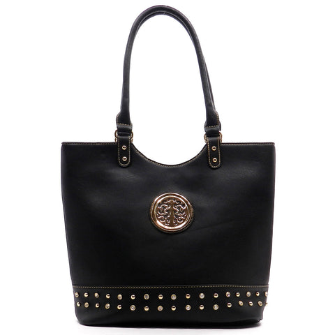 Black and Gold Tote Purse