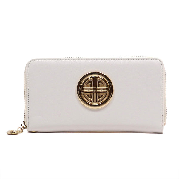 White Zip Around Wallet - Jourdan's Jewels