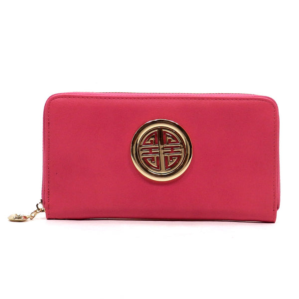 Pink Zip Around Wallet