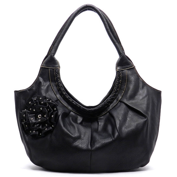 Black Flower Purse