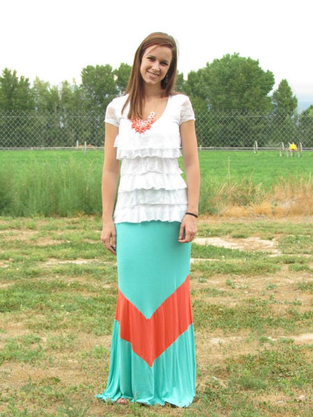 Vienna Maxi Skirt - Mint - Jourdan's Jewels