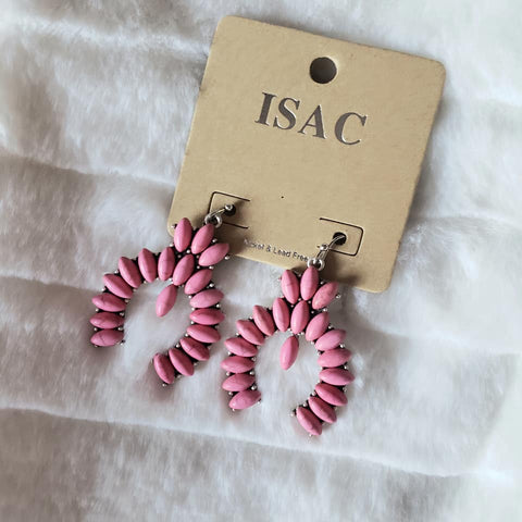Pink Squash Blossom Earrings