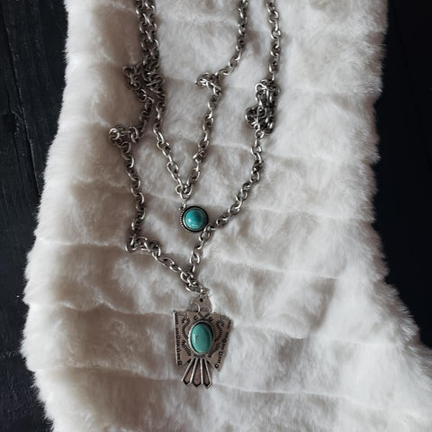 Thunderbird Turquoise Layering Necklace