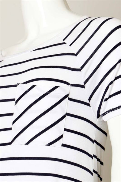 So Many Stripes - White and Navy