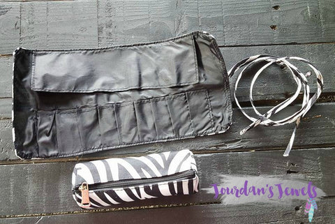 Zebra Roll-Up Cosmetic Bag - Jourdan's Jewels