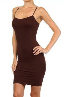 Lola Tank Dress - Brown