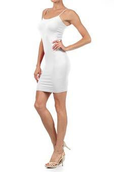 Lola Tank Dress - White - CURVY - Jourdan's Jewels