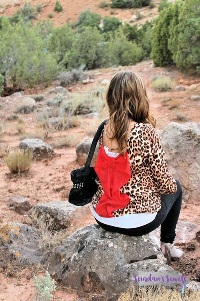 Leopard Bow Back Top - Jourdan's Jewels