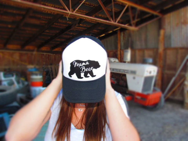 Mama Bear Trucker Hat - 2 Colors - Jourdan's Jewels