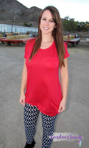 Amy Asymmetrical Top - Red