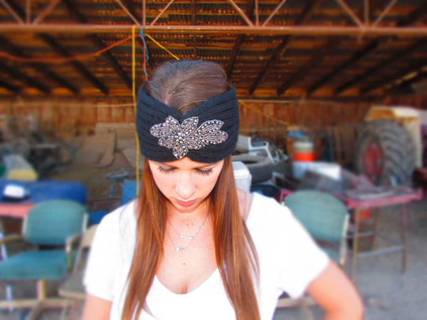 Staci Headwrap - Black - Jourdan's Jewels