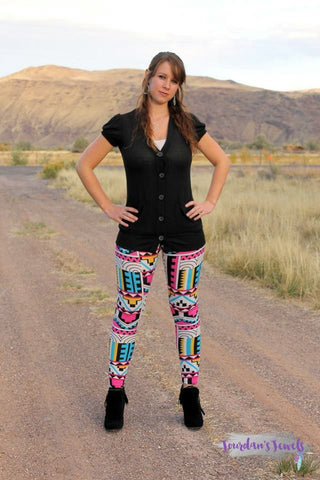Multi Color Aztec Leggings