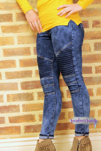 Moto Jeggings - Denim