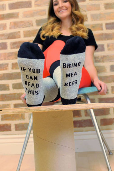 If You Can Read This, Bring Me a Beer Socks - Jourdan's Jewels