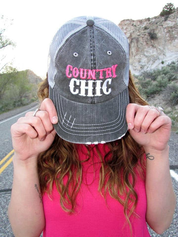Country Chic Trucker Hat - 2 Colors