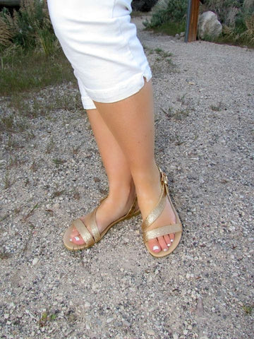 All That Glitters Sandals - Gold - Size 8 - Jourdan's Jewels