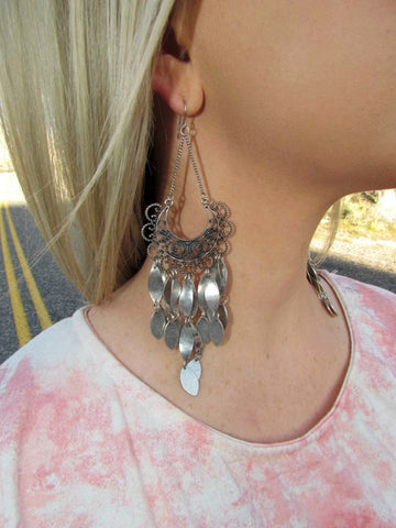 Antiqued Silver Dangle Earrings - Jourdan's Jewels