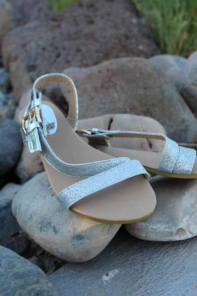 All That Glitters Sandals - Silver